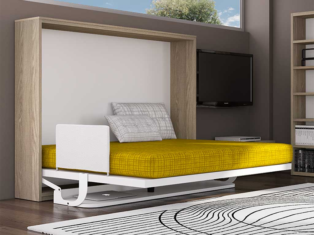 Cama abatible by muebles san antonio - Camas abatibles con mesa ...