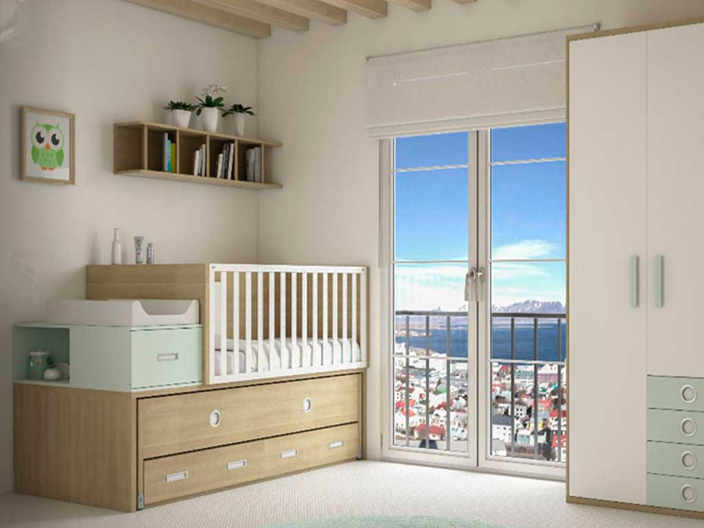 Excelente Muebles Cunas De Almacenamiento Viñeta - Muebles Para ...