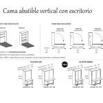 Cama abatible vertical con mesa
