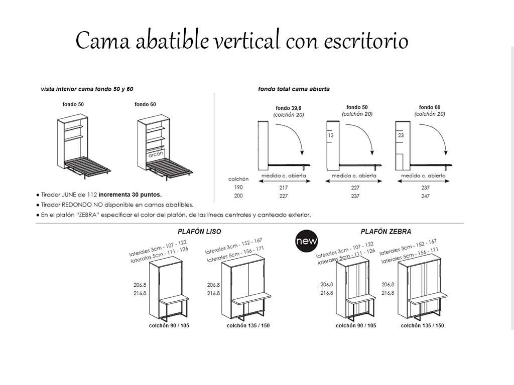 Cama abatible mesa plegable by muebles san - Cama plegable escritorio ...
