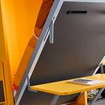 Cama abatible vertical con escritorio