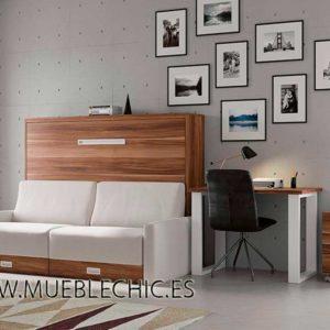 Cama plegable con sofá